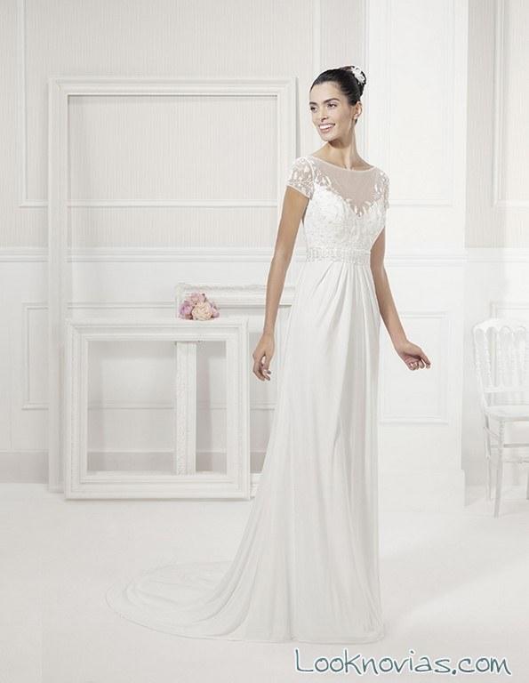 escote fantasía para un vestido de novia Alma