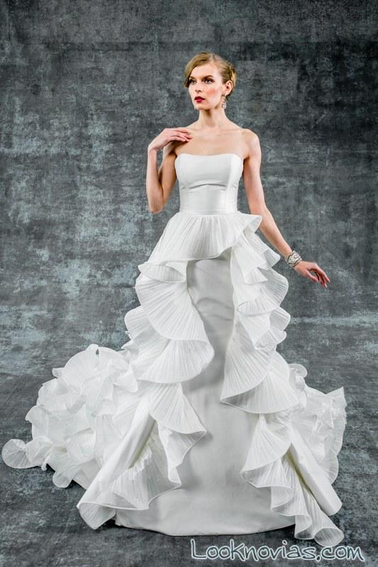 falda con volantes para novia isabelle armstrong