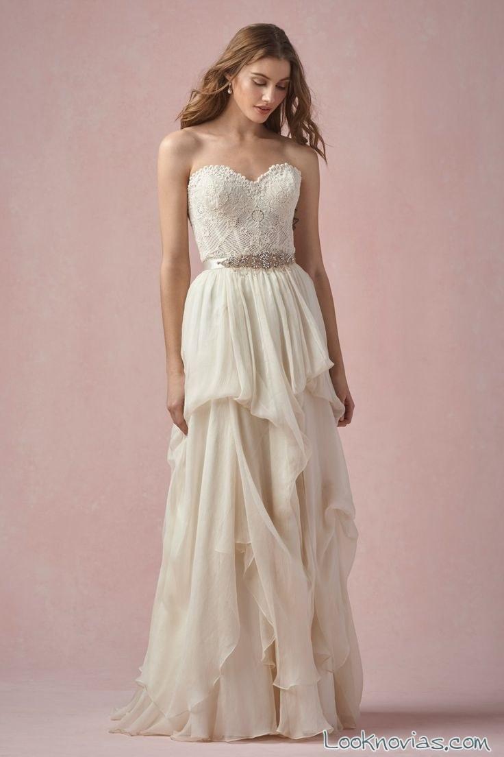falda con volantes para novias watters