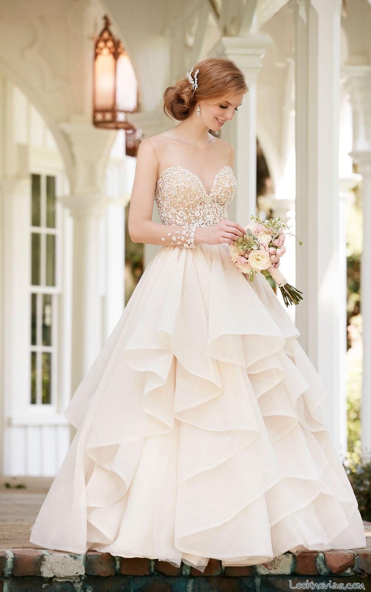 falda con volumen para vestidos de dos partes