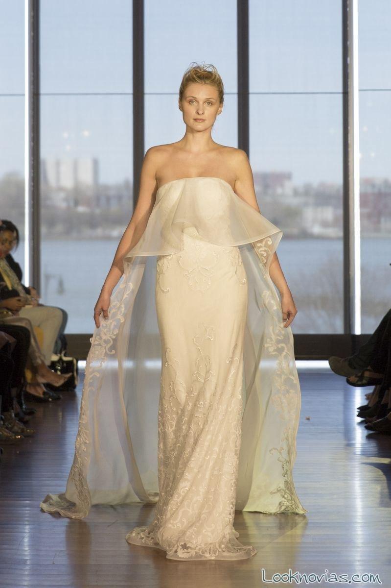 falda de novia con gran volante