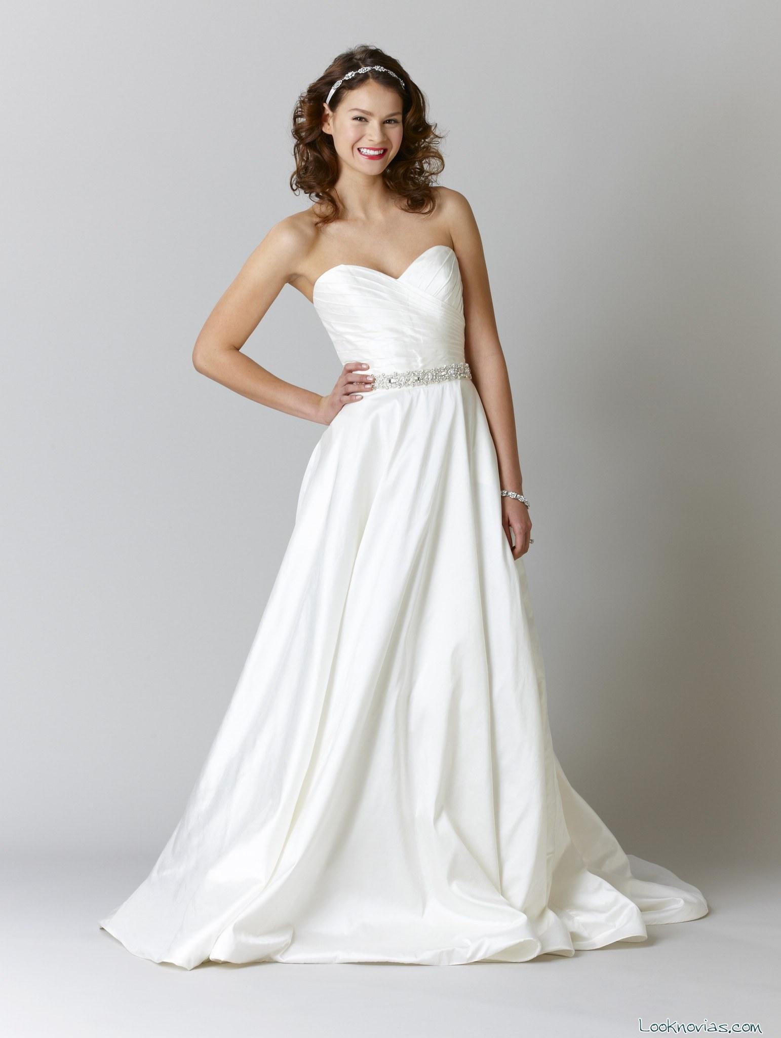 falda de novia con volumen kennedy blue