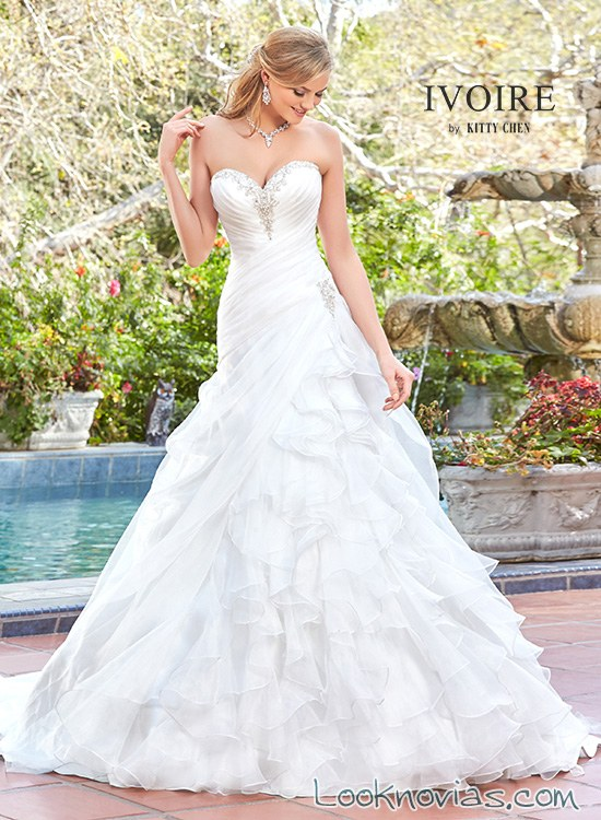 falda drapeados de novia kittychen
