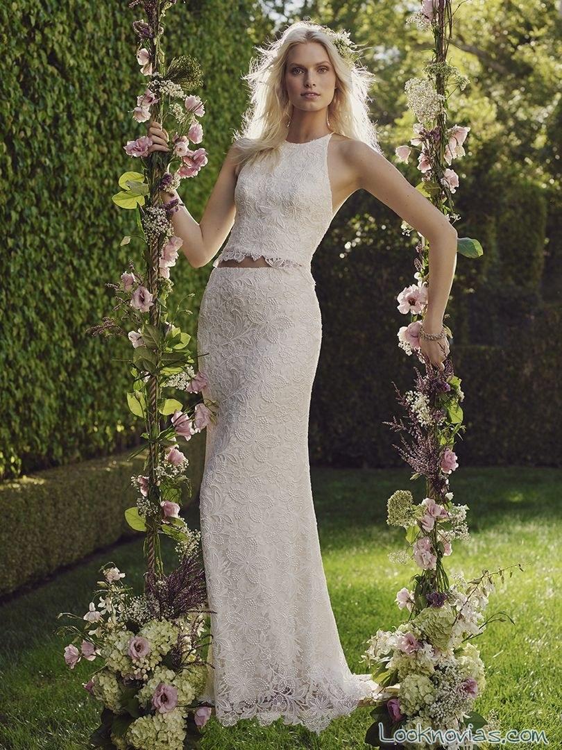 falda y top para vestido de novia