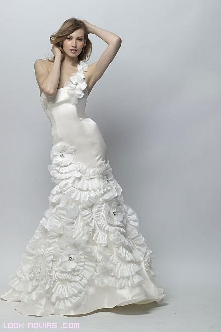 faldas de novia con flores