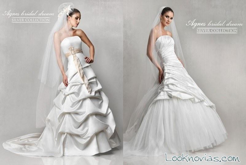 faldas drapeadas de agnes bridal