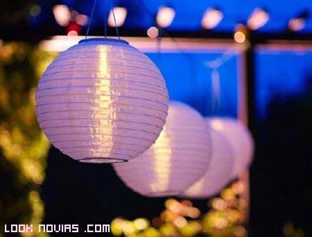 iluminación para bodas a la moda