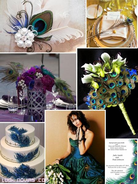 bodas estilo pavo real