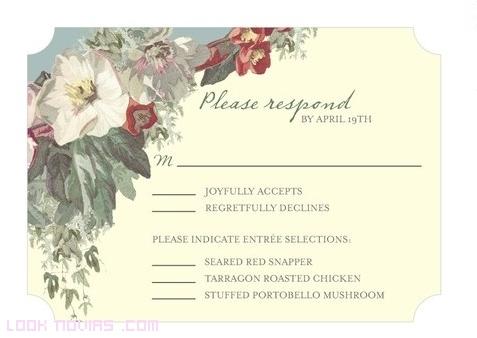 invitaciones con márgenes de flores