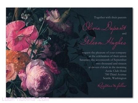 invitaciones con flores para bodas modernas