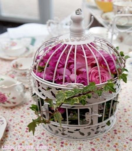 jaulas de colores para boda