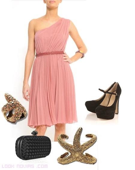 vestido rosa palo para boda