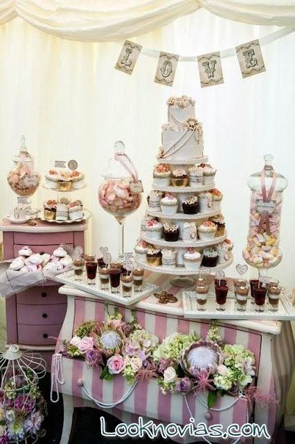 mesa de dulces en despedidas