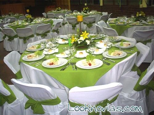 mesas redondas para bodas