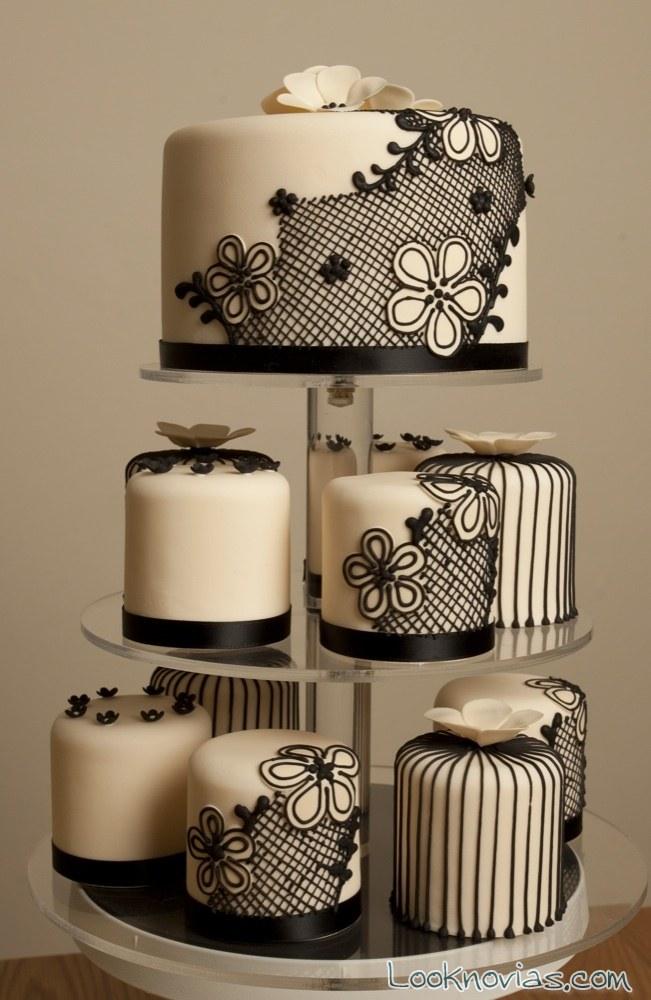 mini cakes de encaje