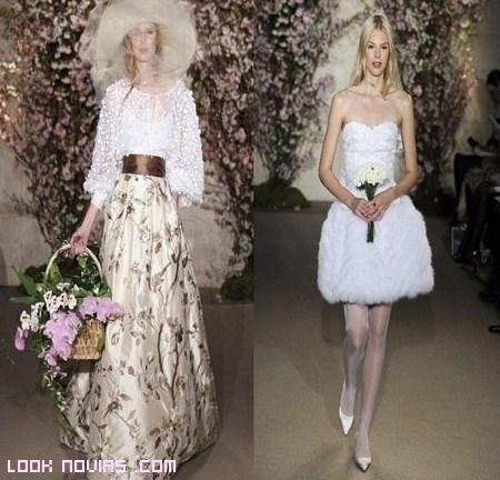 vestidos con color para novias