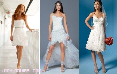 vestidos de gasa novia boda civil