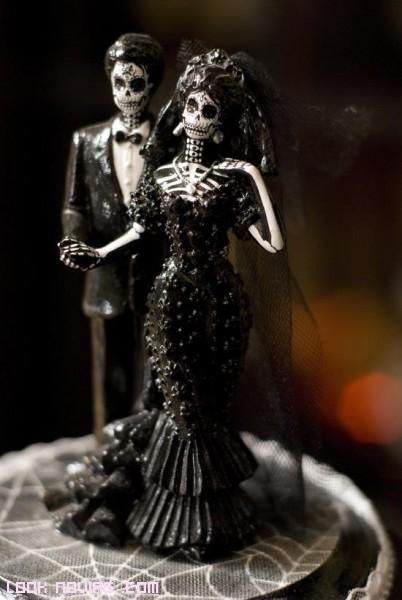 muñecos góticos para bodas temáticas
