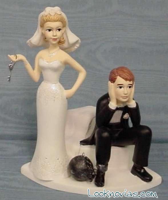 muñecos de pastel de boda con humor