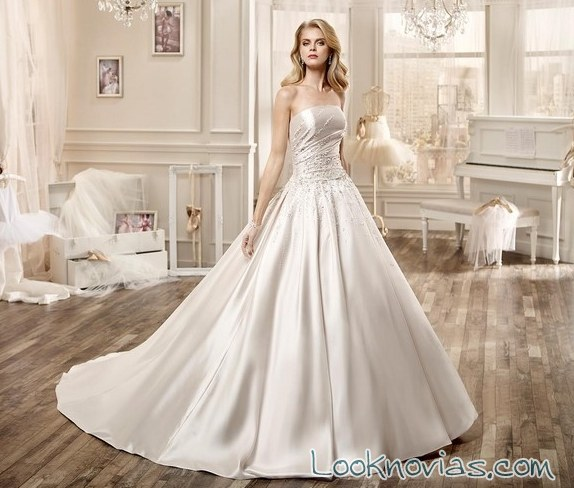 nicole sposa vestido satinado