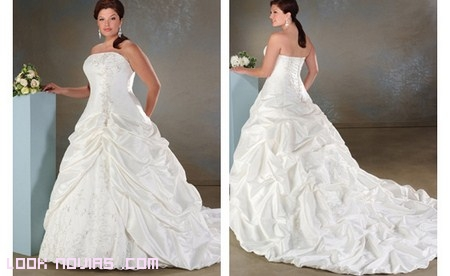 vestido para  novia gordita palabra de honor