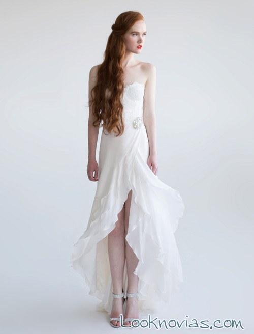 novias aria vestido asimétrico