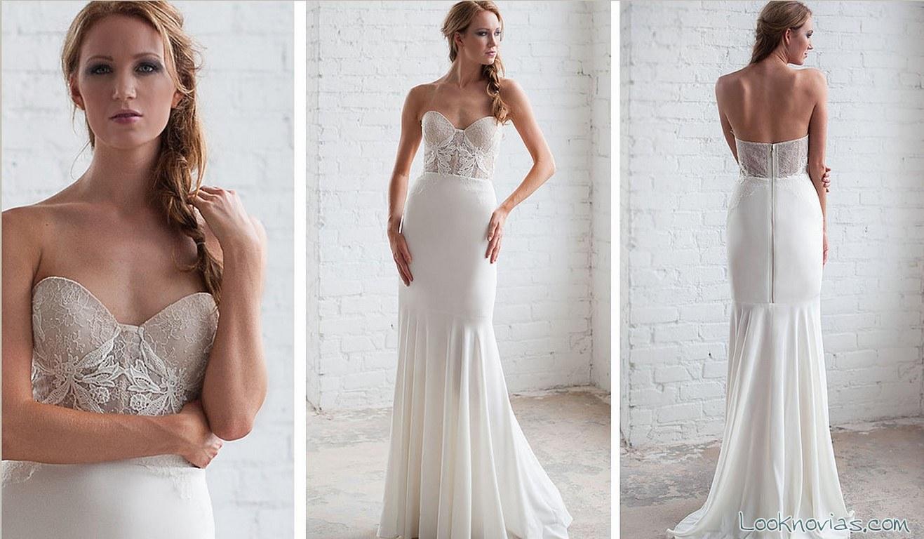novias con vestidos sirena y cuerpo de encajes