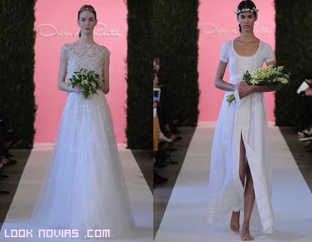 vestidos de novia largos y románticos