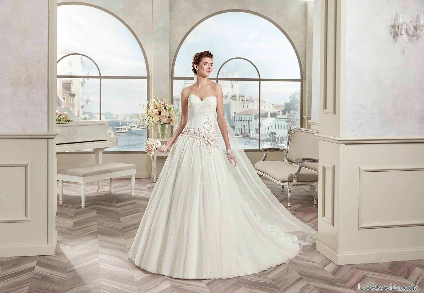 novias princesa vestidos sencillos colet