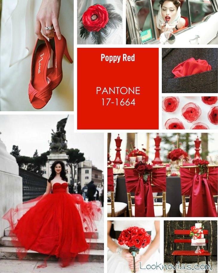 organización de bodas en color rojo