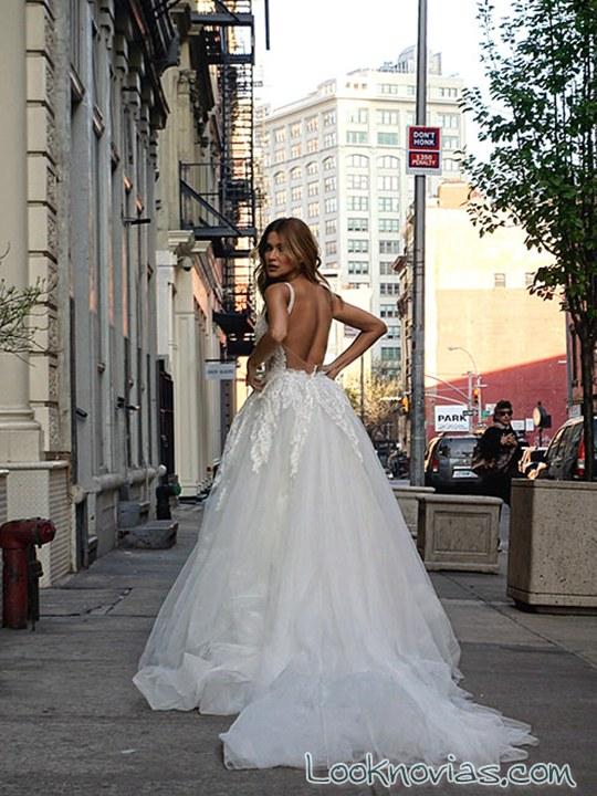 pallas couture vestido de novia evasé con escote