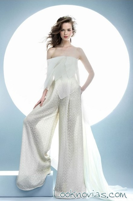 pantalones para novias de ángel sánchez