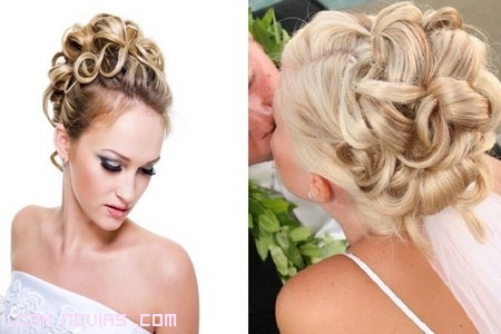 Peinados recogidos altos para novias
