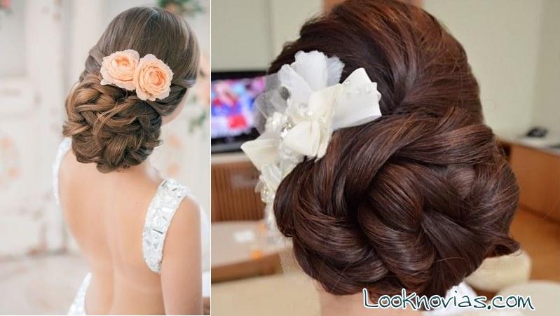 peinados de novia en moño