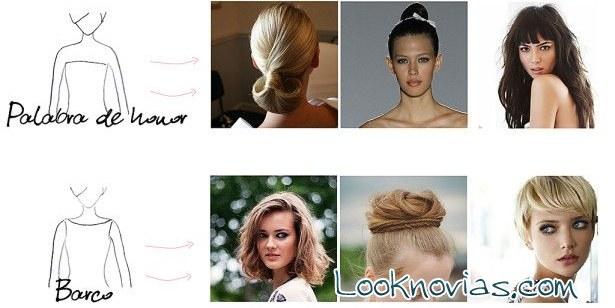 peinados según los escotes