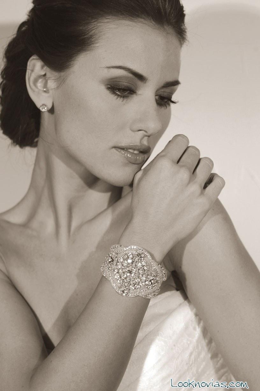 pulsera para novia de brillantes