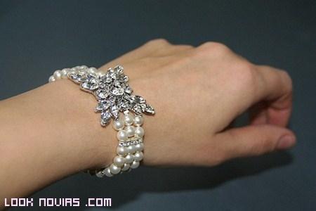 pulsera para novia vintage