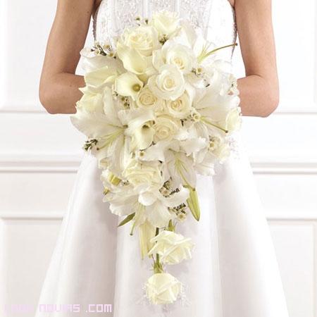 ramo de novia cascada suave