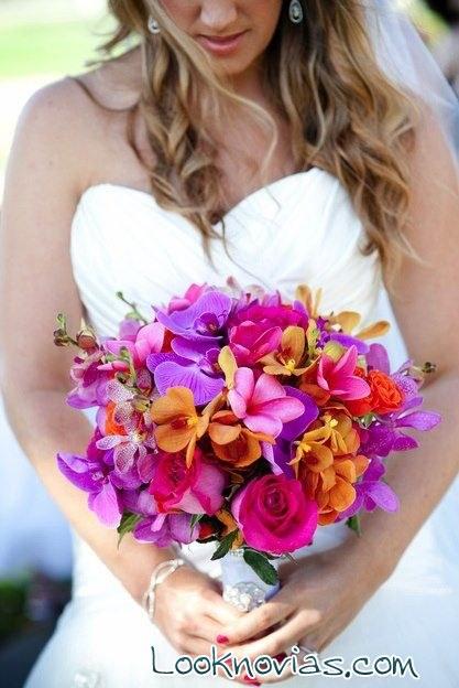 Ramos de novia en colores