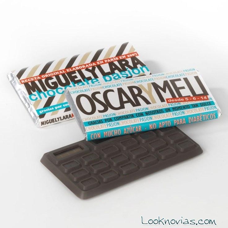 Tabletas de chocolate para invitados