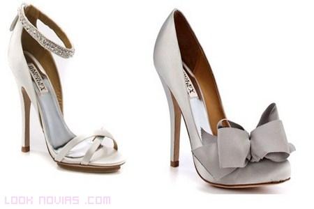 Zapatos de novia en blanco