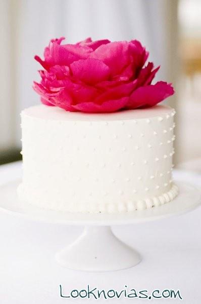 tarta con flor superior