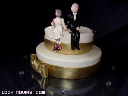 tarta para bodas de oro