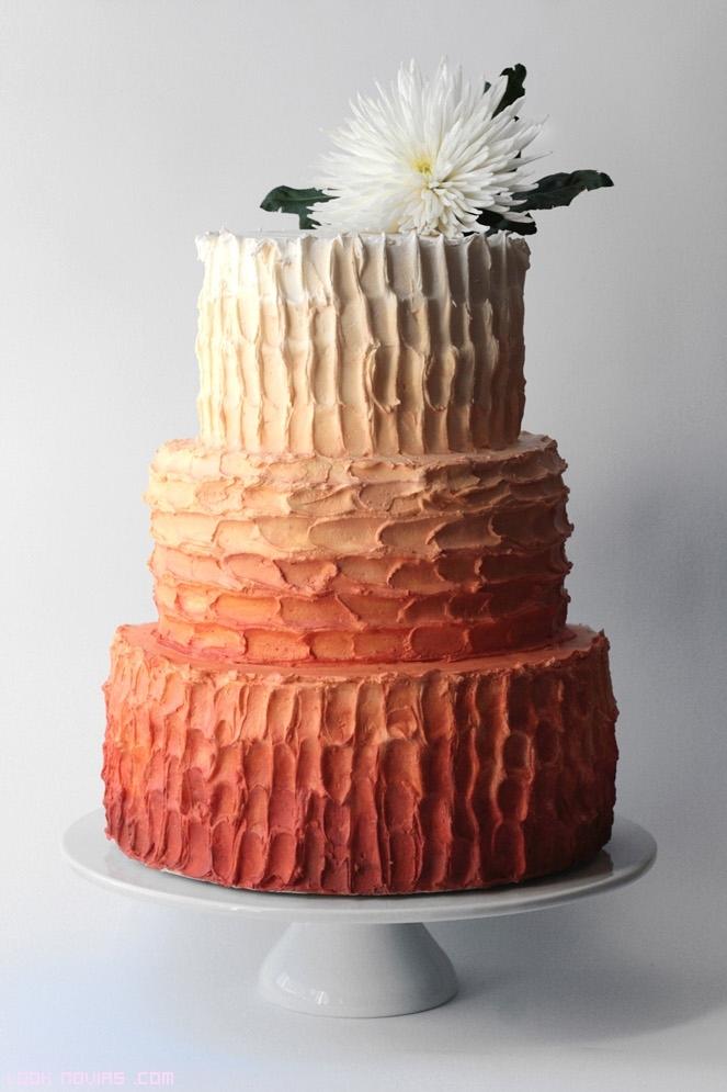 pasteles de boda en colores marrones