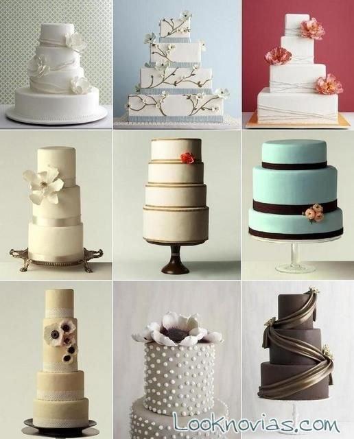 tartas de boda modernas y de pisos