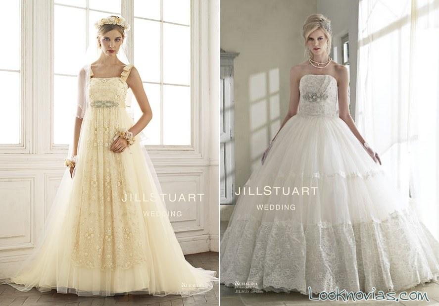 Tendencias en vestidos de novia jill stuart