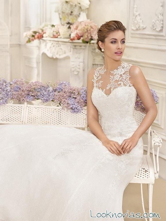 tirantes con encajes en vestidos fara sposa