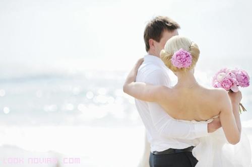 novia en brazos