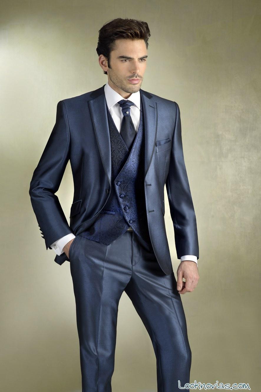 traje azul Gala Novios