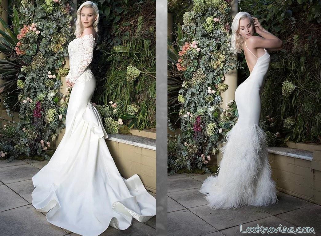 traje de novia blanco leah da gloria